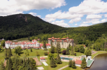 Aerial of the one of the last Grand Hotels in the north east. The Balsams has been closed for almost 10 years and will probably never open again