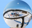 360 Degree aerial panorama of the Couture's Family Farm in Westfield, Vermont